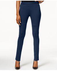 Calvin Klein Jeans | Blue Solid Skinny Leggings | Lyst