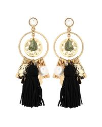 Oscar de la Renta | Black Embellished Earrings | Lyst