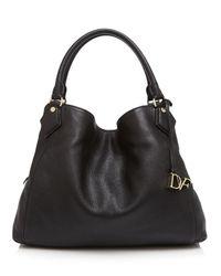 Diane von Furstenberg | Black Voyage Slouchy Shoulder Bag | Lyst