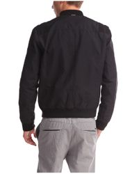 BOSS Orange | Black Bomber Jacket 'ojimm-w' In Cotton Blend for Men | Lyst