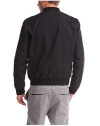 BOSS Orange - Black Bomber Jacket 'ojimm-w' In Cotton Blend for Men - Lyst