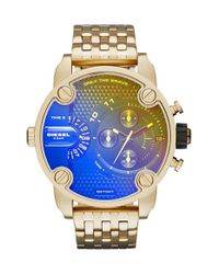 DIESEL | Metallic Diesel 'little Daddy' Chronograph Bracelet Watch for Men | Lyst