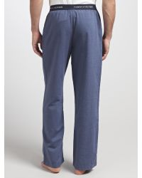 Tommy Hilfiger - Blue Jil Woven Herringbone Lounge Pants for Men - Lyst