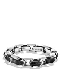 David Yurman | Black Forged Carbon Link Bracelet for Men | Lyst