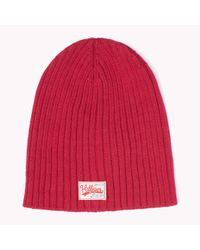 Tommy Hilfiger | Red Cotton Beanie for Men | Lyst