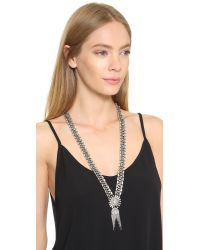 DANNIJO - Metallic Anabel Necklace - Clear/silver Ox - Lyst