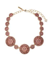 Oscar de la Renta | Multicolor Pavã© Disc Necklace | Lyst
