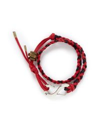 Giles & Brother | Red Brass Nut Braided Cotton Lacing Bracelet for Men | Lyst