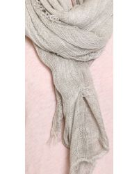 Rag & Bone | Gray Buckley Scarf - Grey | Lyst