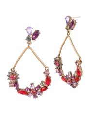 Betsey Johnson | Multicolor Fall Follies Teardrop Earrings | Lyst