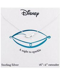 Disney - Metallic Cinderella Glass Slipper Necklace In Sterling Silver - Lyst