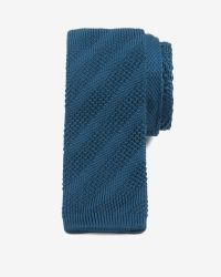 Ted Baker - Blue Knitted Tie for Men - Lyst