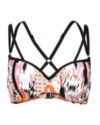 Seafolly | Black Beach Gypsy Bustier Bra Bikini Top | Lyst