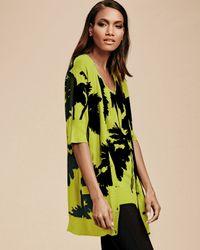 Berek - Green Miami-print Long Cardigan - Lyst