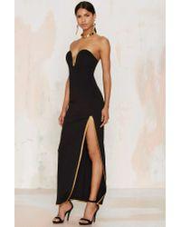 Rare London - Black Edge Of Reason Maxi Dress - Lyst