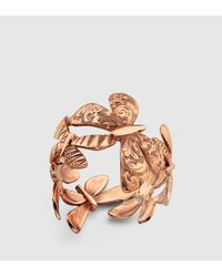 Gucci | Metallic Flora Butterfly Ring | Lyst