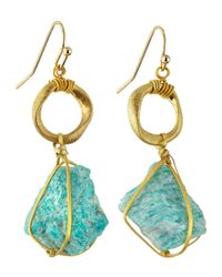 Nakamol | Blue Wrapped Stone Drop Earrings | Lyst