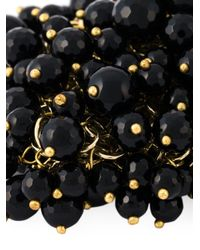 Rosantica - Metallic 'osiris' Onyx Bead Cuff - Lyst