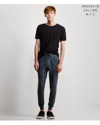 Brooklyn Calling | Black Solid Pocket Tee for Men | Lyst