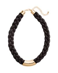 H&M | Black Braided Necklace | Lyst