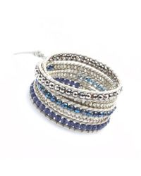 Nakamol | Multicolor Five Times Leather Wrap Bracelet-blue Mix | Lyst