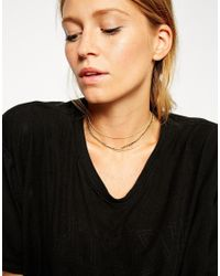 ASOS | Metallic Multirow Diamante Choker Necklace | Lyst