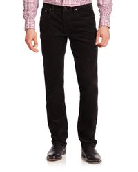 Polo Ralph Lauren | Black Varick Slim-straight Stretch-corduroy Pant for Men | Lyst