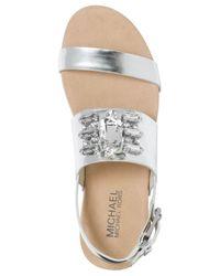 Michael Kors - Metallic Michael Luna Flat Sandals - Lyst
