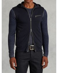 John Varvatos | Blue Sleeveless Zip Hoodie for Men | Lyst