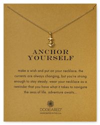 """Dogeared - Metallic Anchor Yourself Necklace, 18"""" - Lyst"""