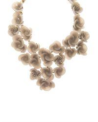 Oscar de la Renta | Metallic Swirl Flower Necklace | Lyst