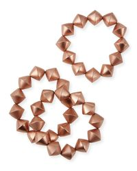 Nest | Pink Rose Gold-plated Stretch Bead Bracelets | Lyst