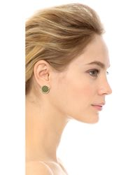 House of Harlow 1960 | Green Sunburst Button Earrings Olive | Lyst