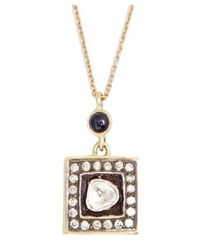 Amrapali | Metallic Blue Sapphire And Diamond 'soul Bazar' Pendant Necklace | Lyst