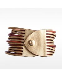 Linea Pelle | Metallic Two Tone Sliced Bracelet | Lyst
