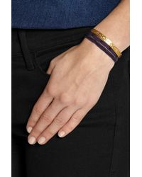 Finds | Metallic + Cooperative De Creation Monmarte Gold-Plated And Cotton Wrap Bracelet | Lyst