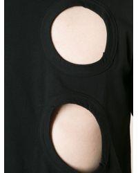 Comme des Garçons - Black Cut Out Detail T-Shirt for Men - Lyst