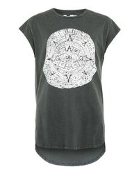 TOPMAN - Gray Black Ouija Line T-shirt for Men - Lyst