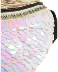 ASOS - Pink Bumbag with Large Sequins - Lyst