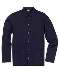 Sunspel | Blue Men's Vintage Wool Jacket for Men | Lyst