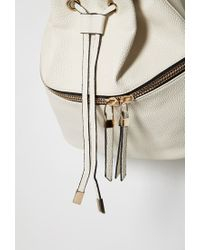 Forever 21 - Natural Pebbled Faux Leather Backpack - Lyst