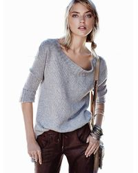 Free People - Gray On A Roll Sweater Tunic - Lyst