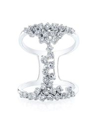 Anne Sisteron | Metallic 14kt White Gold Diamond Lace Ring | Lyst