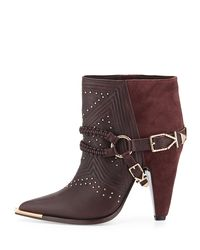 Ivy Kirzhner - Purple Spurs Harness Leather Ankle Boot - Lyst
