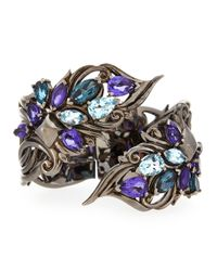 Stephen Webster | Metallic Sterling Silver Multi-stone Cuff | Lyst