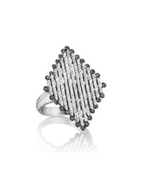 Coomi - Metallic Spring Silver Diamond-shaped Ring - Lyst
