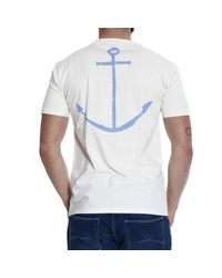 Mauro Grifoni - White Rudder Printed Half Sleeve Crew-Neck T-Shirt for Men - Lyst