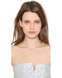 Michael Kors - Metallic Pave Delicate Heart Necklace - Lyst