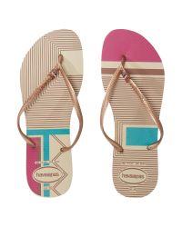 Havaianas - Natural Slim Flip Flop - Lyst