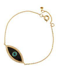 Tai | Metallic Enamel Evil Eye Bracelet | Lyst